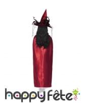Cape réversible noire rouge pour femme, image 2