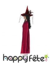 Cape réversible noire rouge pour femme, image 1