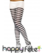 Collants rayés noir et blanc pour adulte., image 2