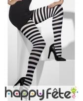 Collants rayés noir et blanc pour adulte.