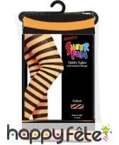 Collants rayés orange et noir. enfant, image 1