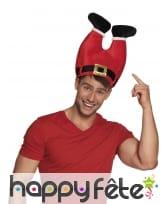 Chapeau rouge pantalon du Père Noël à l'envers, image 1