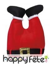 Chapeau rouge pantalon du Père Noël à l'envers