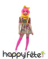Costume robe sexy de clown Patchwork