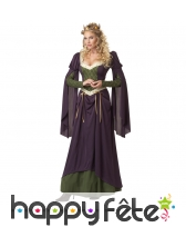 Costume robe violette de princesse médiévale