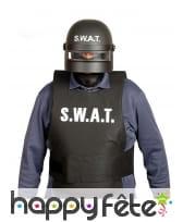 Casque SWAT avec visière pour adulte