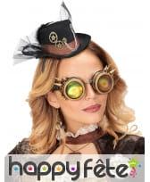 Chapeau Steampunk avec voile sur serre tête, image 1