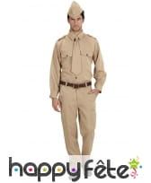 Costume soldat américain 2eme guerre mondiale