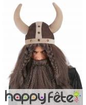 Casque souple de viking avec cornes, image 1