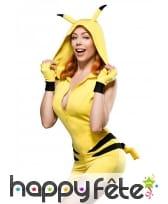Combinaison shorty de Pikachu moulante