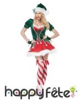 Costume sexy d'efle du père Noël pour femme