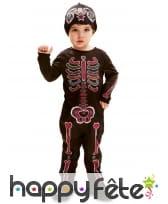 Costume squelette dia de los muertos pour bébé