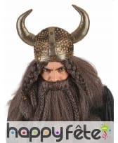 Casque souple et rembourré de Viking adulte, image 1