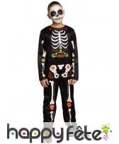 Combinaison squelette Jour des morts pour garçon
