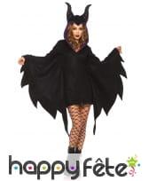 Cape sorcière maléfique à capuche