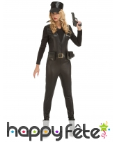 Combinaison SWAT noire moulante pour femme