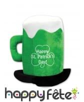 Chapeau Saint Patrick chope de bière