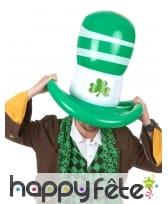 Chapeau Saint Patrick gonflable de 50cm, image 1