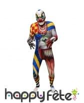 Costume seconde peau de clown terrifiant