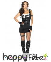 Costume SWAT sexy pour femme
