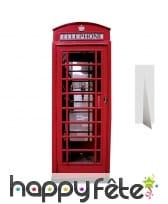 Cabine téléphonique anglaise en carton plat