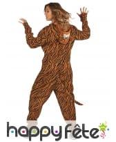 Combinaison tigre à capuche pour femme, image 3