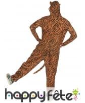 Combinaison tigre à capuche pour homme, image 2