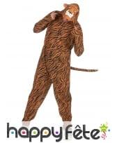 Combinaison tigre à capuche pour homme