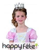 Couronne tiare argentée avec strass pour enfant, image 1