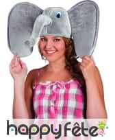Chapeau tête d'éléphant