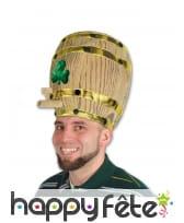 Chapeau tonneau de bière Saint patrick