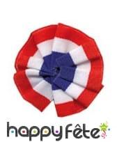 Cocarde tricolore en tissu avec epingle