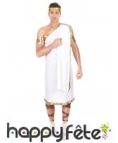Costume tunique grecque blanche pour homme, image 1