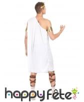 Costume tunique grecque blanche pour homme, image 3