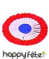 Cocarde tricolore papier 12cm adhesif