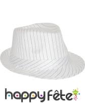 Chapeau Tony rayé blanc/noir