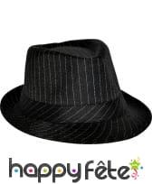 Chapeau Tony rayé noir/blanc