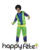 Costume training rétro années 80 vert pour homme