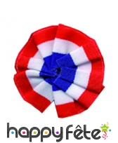 Cocarde tricolore tissu 8 cm epingle
