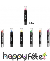 Crayons UV à paillettes visage et corps