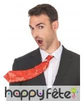 Cravate unie rouge avec sequins, image 1