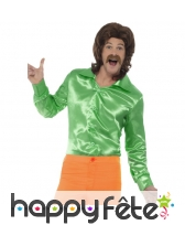 Chemise verte années 60 pour homme