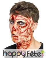 Cicatrice visage brulé en latex