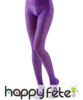 Collants violets brillants