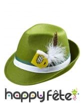 Chapeau vert de bavarois avec bière décorative, image 1