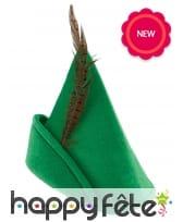 Chapeau vert de robin des bois pour adulte