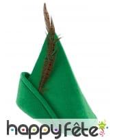 Chapeau vert de Robin pour adulte