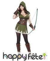 Costume vert de femme archer
