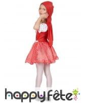 Costume vichy de petit chaperon rouge pour enfant, image 2