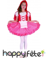 Costume vichy de petit chaperon rouge pour enfant, image 3